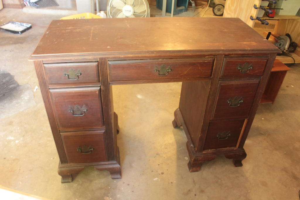 older wood desk