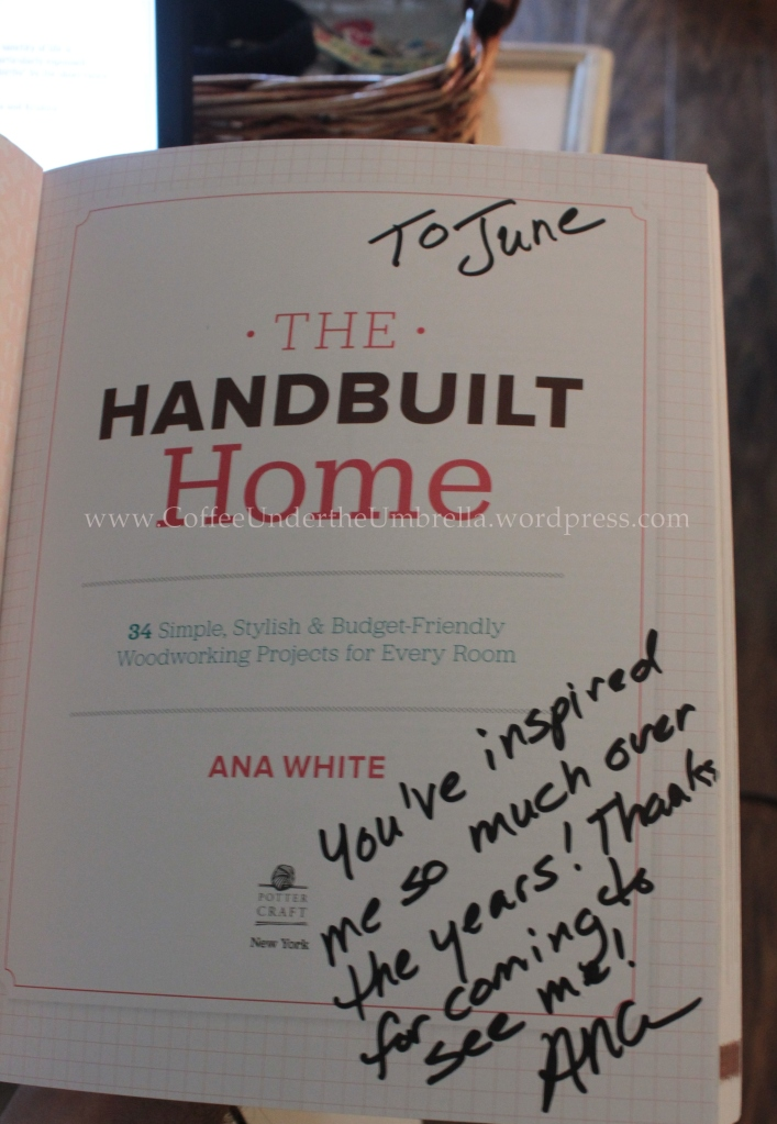 ana white handbuilt home book signing