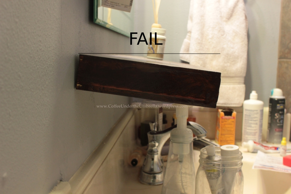 bathroom floating shelf fail
